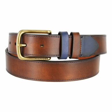 "Tommy Hilfiger Men's Casual Belt with Contrast Loop and Tip 1-3/8"" Wide"