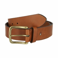 "Tommy Hilfiger Men's Leather Casual Jean Belt 1-1/2"" Wide - Brown"