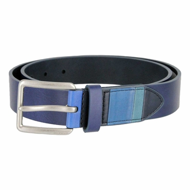 "Tommy Hilfiger Navy Casual Belt 1-3/8"" Wide"
