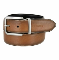 Tommy Hilfiger Reversible Edge Stitched Belt - Tan & Black
