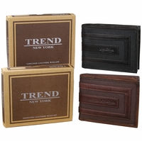 Trend New York Hebe Genuine Leather Wallet Collection(Click to see more styles)