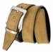 "Triple Stitched Design Reversible Suede Smooth Leather Dress Belt 1-3/8"" wide - 310943"