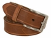 "Tulliani Aringa Herringbone Tooled Leather Belt 1-3/8"" Wide - Tan2"
