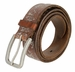 Tulliani Fiore Rustico Floral Tooled Leather Belt - Brown2