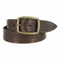 Tulliani Legnoso Tooled Leather Belt - Brown