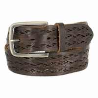 Tulliani Meadow Tooled Leather Belt - Brown