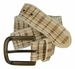 Tulliani Plaid Illusion Belt with Brass Buckle - Cream2