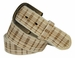 Tulliani Plaid Illusion Belt with Brass Buckle - Cream3