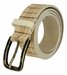 Tulliani Plaid Illusion Belt with Distressed Buckle - Cream1
