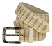 Tulliani Plaid Illusion Belt with Distressed Buckle - Cream2