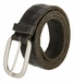 Tulliani Plaid Illusion Belt with Nickel Buckle - Black2