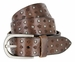 Tulliani Studded Floral Tooled Leather Belt - Brown1