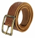 Tulliani Tartan Tooled Leather Belt with Antique Brass Finish Buckle - Tan2
