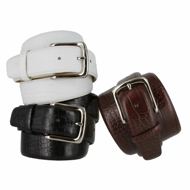 "Valley View Men's Designer Dress Belt 1-1/2"" Wide Alligator Embossed Leather"