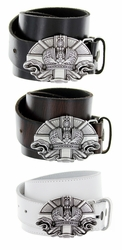 Vatican Belt Buckle Casual Jean Leather Belt