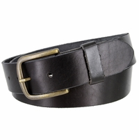 "JT Vintage Men's Vintage Full Grain Cowhide Leather Casual Jeans Belt 1-1/2"" Wide - Black"