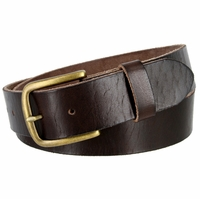 "JT Vintage Men's Vintage Full Grain Cowhide Leather Casual Jeans Belt 1-1/2"" Wide - Brown"