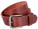 "JT Vintage Men's Vintage Full Grain Cowhide Leather Casual Jeans Belt 1-1/2"" Wide - Burgundy1"