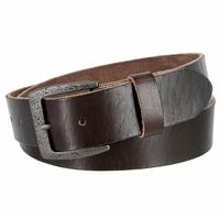 "Vintage Full Grain Cowhide Leather Casual Jeans Belt 1-1/2"" Wide BS40-JT5803 - Brown"