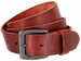 "Vintage Full Grain Cowhide Leather Casual Jeans Belt 1-1/2"" Wide BS40-JT5803 - Burgundy1"