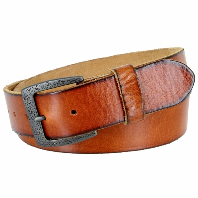 "Vintage Full Grain Cowhide Leather Casual Jeans Belt 1-1/2"" Wide BS40-JT5803 - Tan"