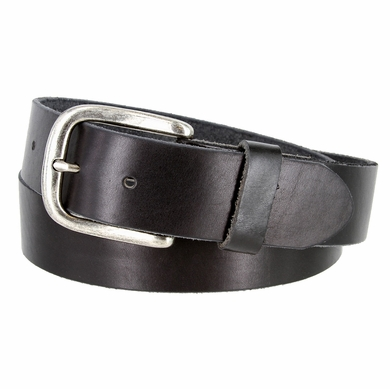 "Vintage Full Grain Cowhide Leather Casual Jeans Belt 1-1/2"" Wide BS40-P3588 - Black"