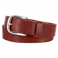 "Vintage Full Grain Cowhide Leather Casual Jeans Belt 1-1/2"" Wide BS40-P3588 - Burgundy"