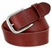 "Vintage Full Grain Cowhide Leather Casual Jeans Belt 1-1/2"" Wide BS40-P3588 - Burgundy1"