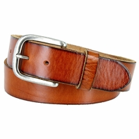 "Vintage Full Grain Cowhide Leather Casual Jeans Belt 1-1/2"" Wide BS40-P3588 - Tan"
