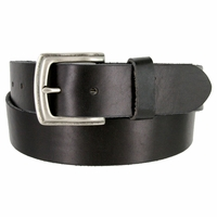"Vintage Full Grain Cowhide Leather Casual Jeans Belt 1-1/2"" Wide BS40-P3926 - Black"