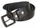"Vintage Full Grain Cowhide Leather Casual Jeans Belt 1-1/2"" Wide BS40-P3926 - Black2"
