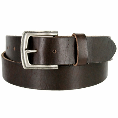"Vintage Full Grain Cowhide Leather Casual Jeans Belt 1-1/2"" Wide BS40-P3926 - Brown"