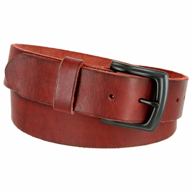 "Vintage Full Grain Cowhide Leather Casual Jeans Belt 1-1/2"" Wide BS40-P3926 - Burgundy"