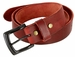 "Vintage Full Grain Cowhide Leather Casual Jeans Belt 1-1/2"" Wide BS40-P3926 - Burgundy2"