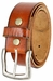 "Vintage Full Grain Cowhide Leather Casual Jeans Belt 1-1/2"" Wide BS40-P3926 - Tan3"