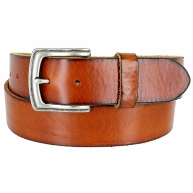 "Vintage Full Grain Cowhide Leather Casual Jeans Belt 1-1/2"" Wide BS40-P3926 - Tan"