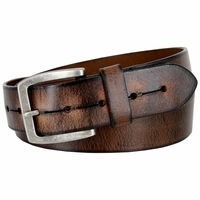 "Vintage Style Casual Jeans Leather Belt for Men 1-1/2"" wide 131044"