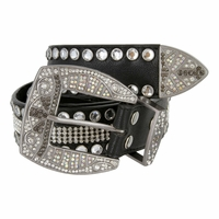 Western Bling Rhinestone Leather BeltS