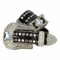 Western Cowgirl Crystal Gem Bling Rhinestone Leather Belts