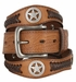 Western Floral Embossed and Braided Leather with Antique Nickel Star Conchos1