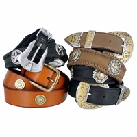 Western Leather Concho Belts