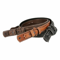 Western Ranger Genuine Leather Bison Belt Strap