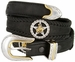 Western Texas Ranger Star Cowboy Concho Leather Belt - Black1