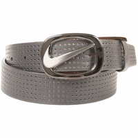 Women's Nike Golf Perforated Light Charcoal Cutout Buckle Belt 1303009