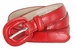 "Women's Skinny Snakeskin Embossed Genuine Leather Dress Belts 3/4"" or 19mm - Red2"