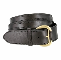 Womens Crossing Straps Leather Belt - Black