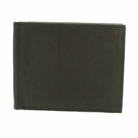 Y-27 Soft Genuine Leather Quality Bifold Wallet - Black