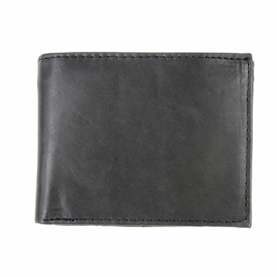 Y-28-Z Genuine Leather Bifold Wallet - Black