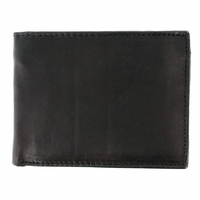 Y-39-Z Genuine Leather Bifold Wallet - Black