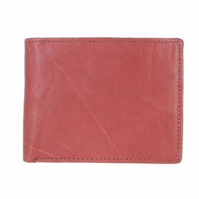 Y-46-Z Genuine Leather Bifold Wallet - Light Burgundy